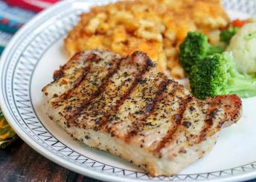 "Click Here for Recipe: Grilled Citrus and Garlic Pork Chops ""Wow, these..."