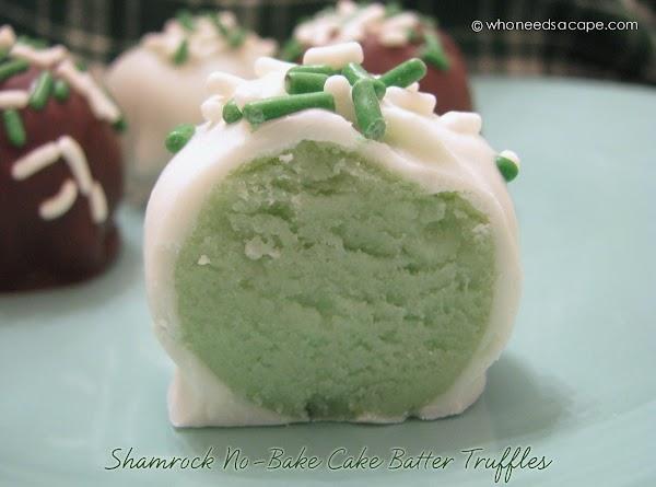Shamrock No-bake Cake Batter Truffles Recipe