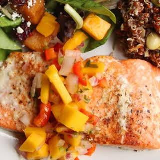 Salmon with Mango Salsa.