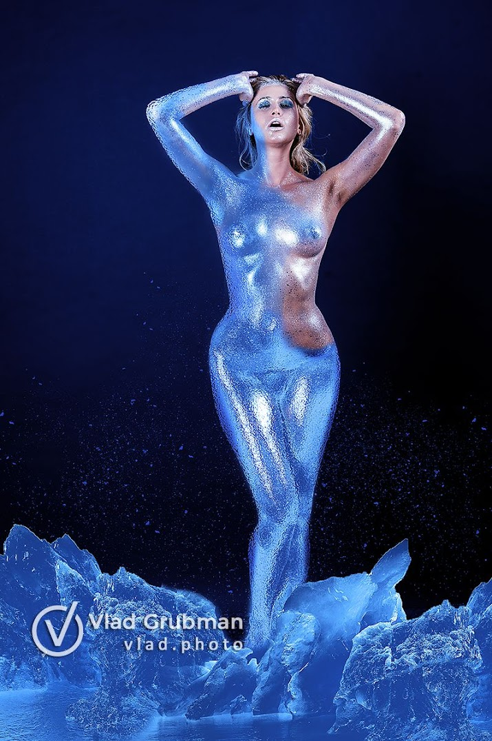 Galatea Frozed - creative body makeup concept - photography by Vlad Grubman / Zealusmedia.com