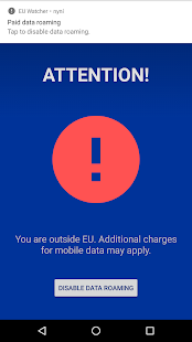 EU Roaming Data Watcher - náhled