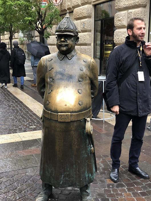 Fat Policeman Statue