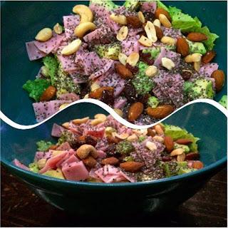 Avocado, Ham and Chia Seed Salad