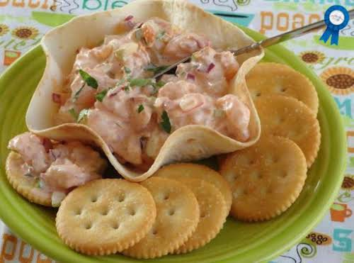 "Summer Spicy Shrimp Salad in Tortilla Cups/Bowls ""I made it as you..."