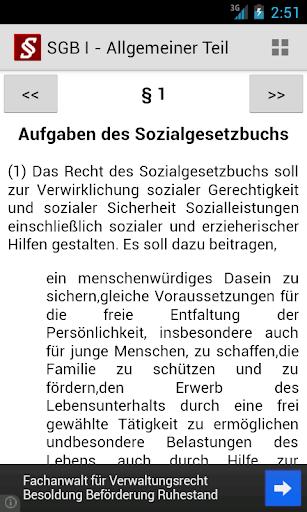 Sozialgesetzbuch screenshot 2