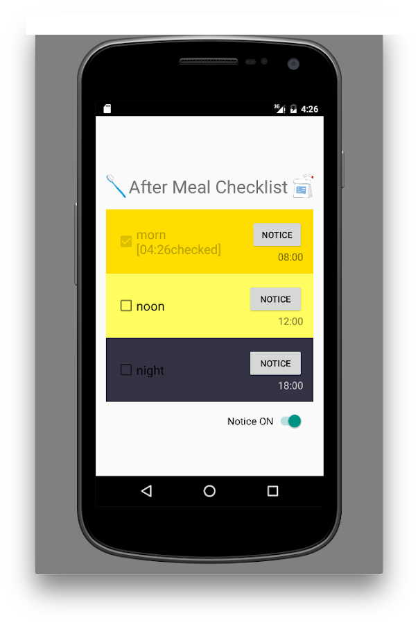 After Meal Checklist- screenshot