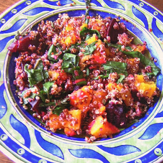 Roasted Vegetables, Kale and Quinoa Salad.