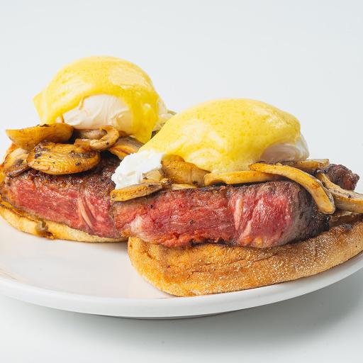 Striploin Steak & Mushroom Benny