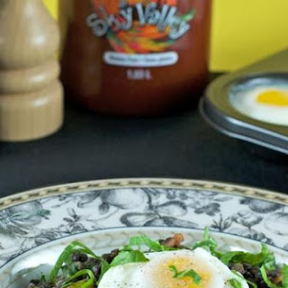 Poached Eggs & Lentil Hash
