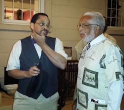 Photo: Kalonji speaks to Kwame Lilliard