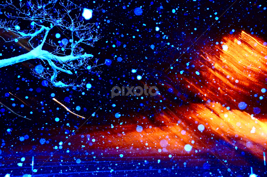 Fire And Ice Light Painting Abstract Pixoto