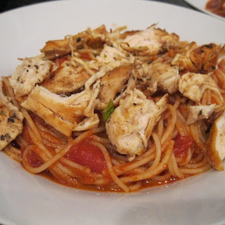 Slow Cooker Chicken with Spaghetti