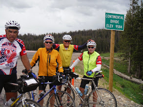 Photo: Day 18 Jackson Hole to Dubois WY 88 miles 4450' climbing: Another summit, over the continental divide, 9584' elevation!