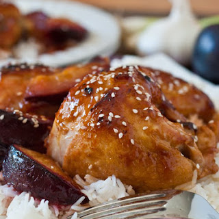 Chicken with Sweet and Sour Plum Sauce.
