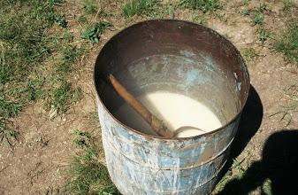 Photo: 03461 シリンホト近郊/ノルボ家/乳製品作り