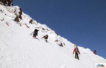 Photo: This way up seems to be not correct - Katka & Clarion descending down to Matus