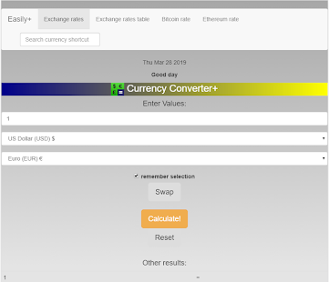 Currency converter Easily+ Screenshot