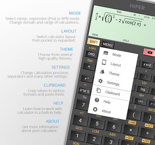 HiPER Scientific Calculator 6.1.1 screenshots 10