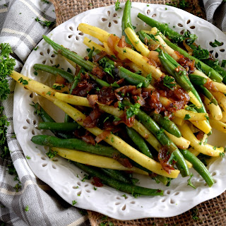 Sauteed Green Beans with Caramelized Shallots.