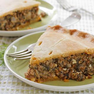 Greek Meat & Spinach Pie.