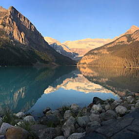 Lake Louise at sunrise by Margie Troyer - Landscapes Waterscapes (  )