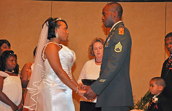 Photo: Ceremony in progress ~  Military Wedding - Hilton Garden Inn - Anderson, SC - 7/09 - Photo by Hollie   - http://hkussmaulphotography.com