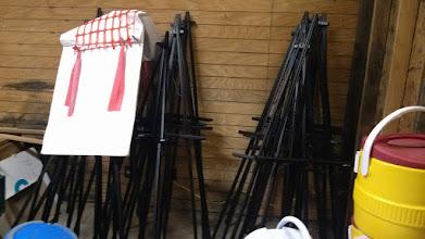 Photo: Gl black wooden easels