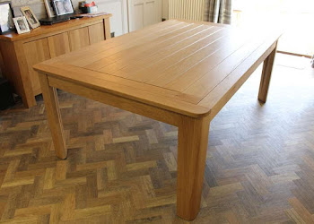 Planked Dining Top with Breadboard Ends