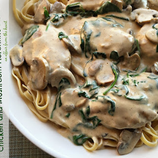 Chicken and Mushroom Florentine Pasta.