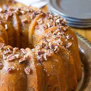 Nutty Cardamom Bundt Cake with Bourbon Glaze