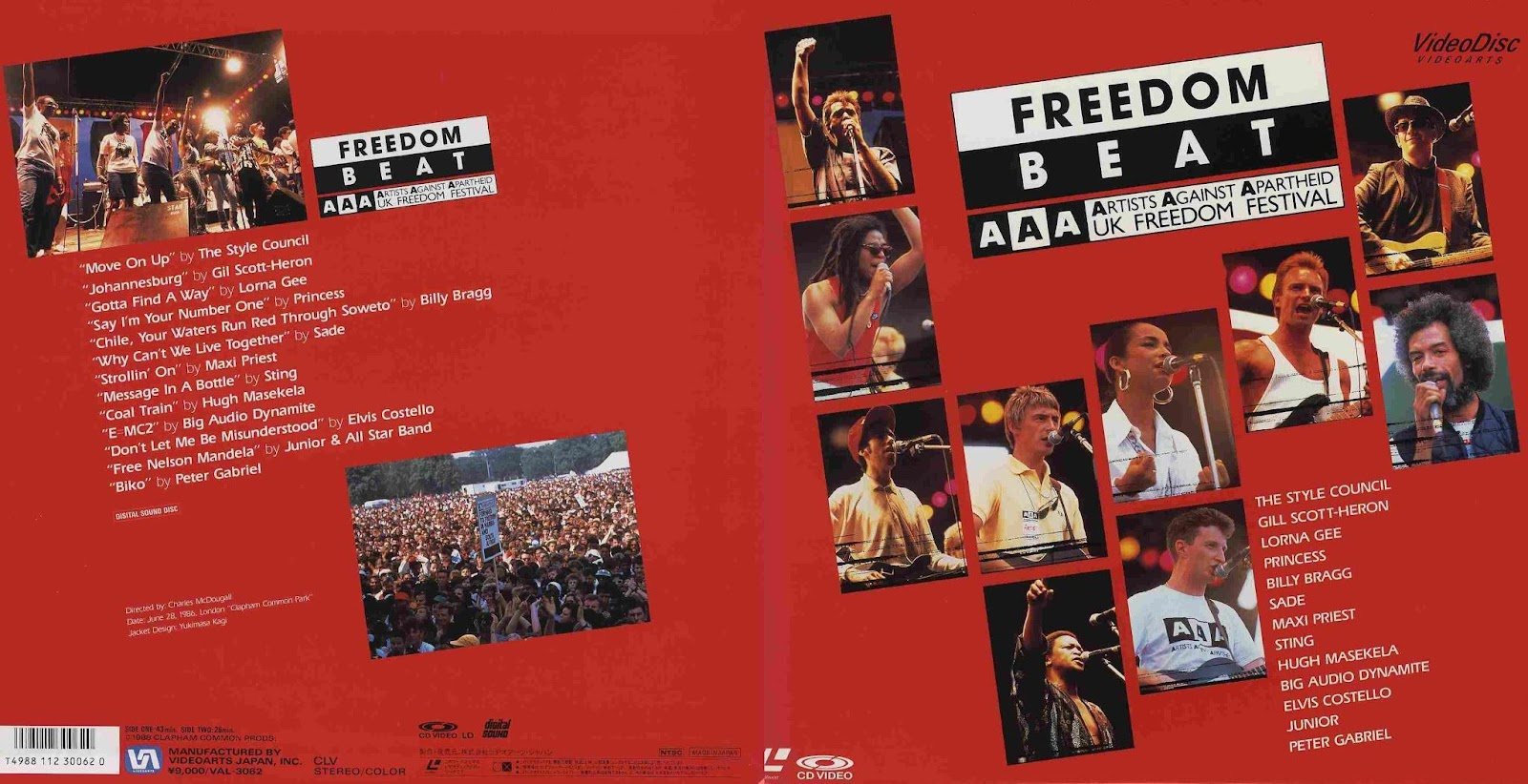 DVD cover of Freedom Beat.