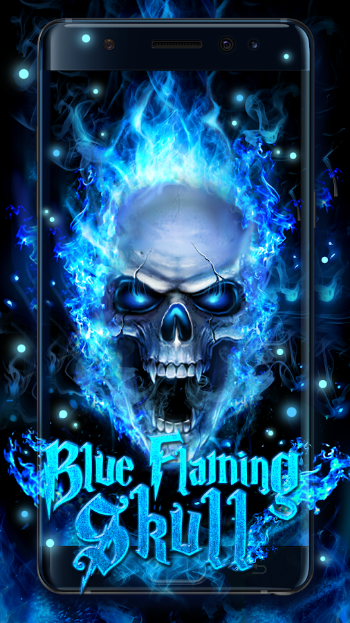 blue fire skull live wallpaper android apps on google play. Black Bedroom Furniture Sets. Home Design Ideas