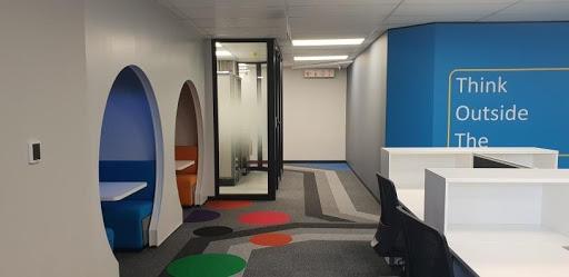 Inside the new DVT offices in Rosebank.