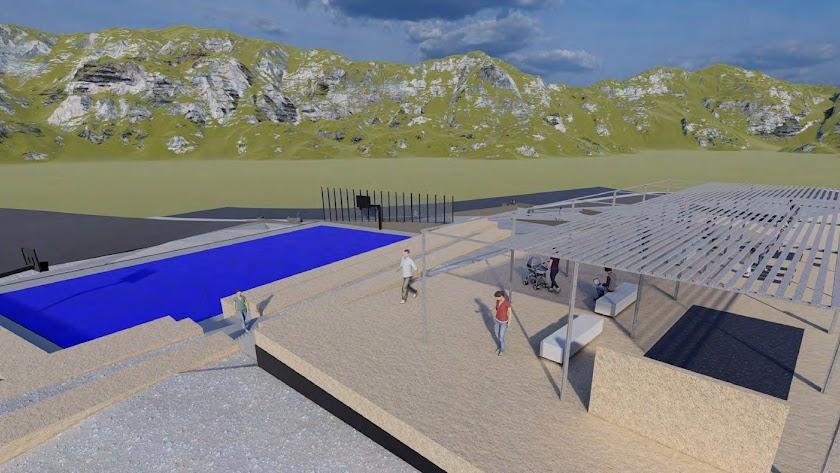 Así será la nueva zona de juegos y deporte de Mirador del Mediterráneo.