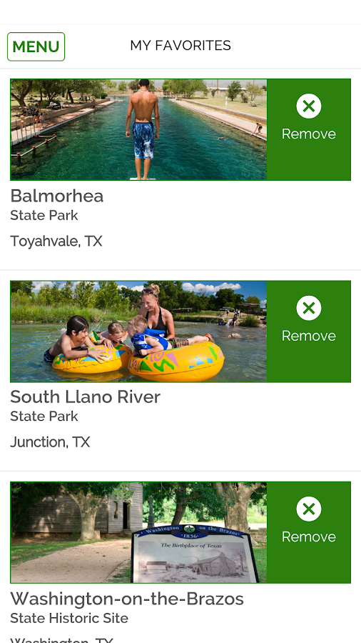 TX State Parks Official Guide- screenshot