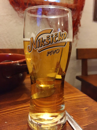 Niksicko-Pivo-Koto.jpg - Nikšićko Pivo by Trebjesa Brewery. It went down easy at a cafe after a long afternoon of climbing and touring in Kotor, Montenegro.