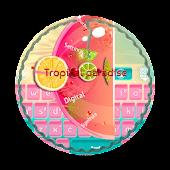 Tropical paradise GO Keyboard