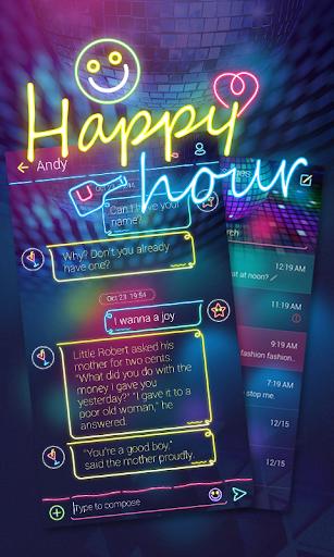 GO SMS PRO HAPPY HOUR THEME