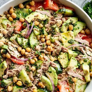 Avocado Tuna Chickpea Salad.
