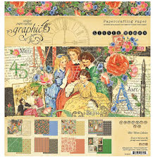 Graphic 45 Paper Pad 8X8 24/Pkg - Little Women