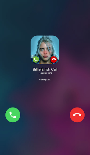 Fake Video Call From Billie Eilish screenshot 1