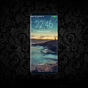 LockScreen IPhone X - IOS 11 notifications - náhled