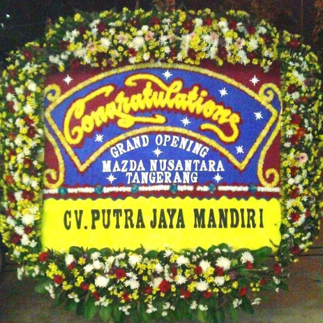 Bunga Papan Happy Wedding Cibitung