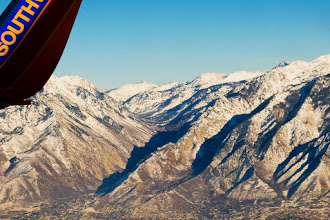 Photo: Little Cottonwood Canyon from the plane