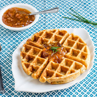 Cheddar Cheese-Chive Waffles.