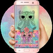 Colorful Owl Keyboard Theme