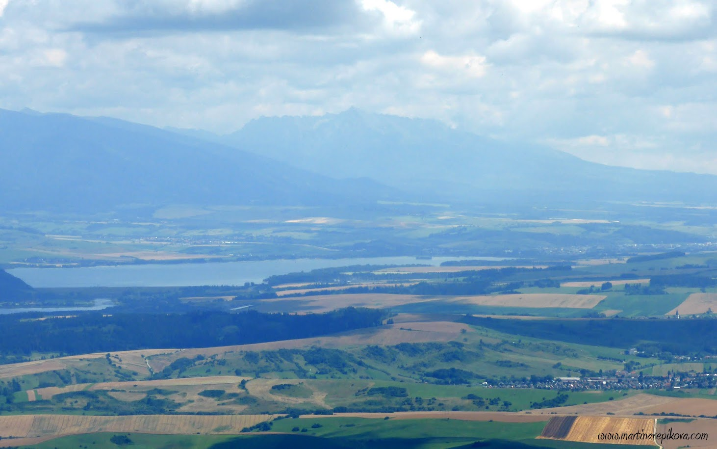 View east towards Liptovska Mara dam and Tatry, Slovakia