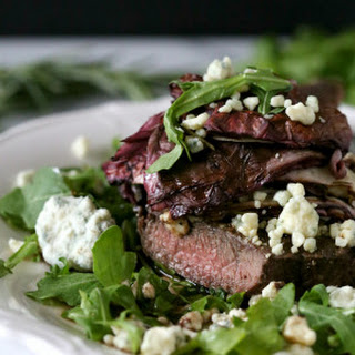 Flat Iron Steak with Balsamic Roasted Radicchio