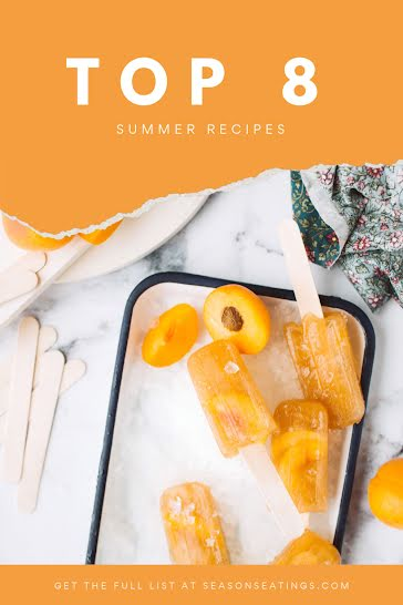 Top Eight Summer Recipes - Pinterest Pin Template