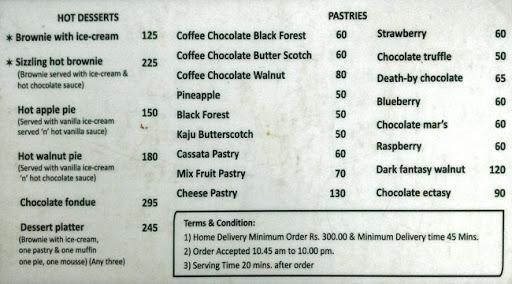 Baker's Lounge menu 8